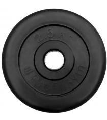 Диск обрезиненный ProfiGym чёрный 2,5 кг СГ000002869