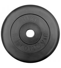 Диск обрезиненный ProfiGym чёрный 10 кг СГ000002872