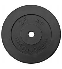 Диск обрезиненный ProfiGym чёрный 25 кг СГ000002875