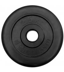 Диск обрезиненный ProfiGym чёрный 2,5 кг СГ000002877