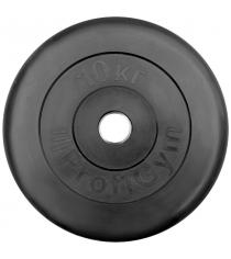 Диск обрезиненный ProfiGym чёрный 10 кг СГ000002879