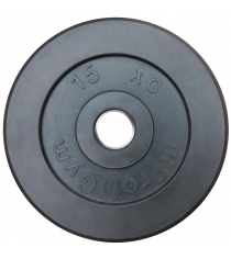 Диск обрезиненный ProfiGym чёрный 15 кг СГ000002887