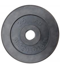 Диск обрезиненный ProfiGym чёрный 25 кг СГ000002889