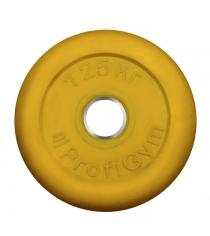 Диск обрезиненный ProfiGym жёлтый 1,25 кг СГ000002890