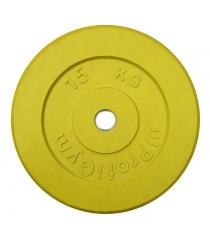 Диск обрезиненный ProfiGym жёлтый 15 кг СГ000002894