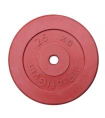 Диск обрезиненный ProfiGym красный 25 кг СГ000002896