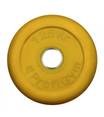 Диск обрезиненный ProfiGym жёлтый 1,25 кг СГ000002897
