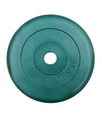 Диск обрезиненный ProfiGym зелёный 10 кг СГ000002900
