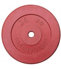 Диск обрезиненный ProfiGym красный 25 кг СГ000002903