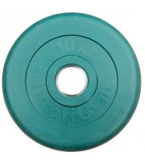 Диск обрезиненный ProfiGym зелёный 10 кг СГ000002907