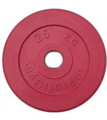 Диск обрезиненный ProfiGym красный 25 кг СГ000002910