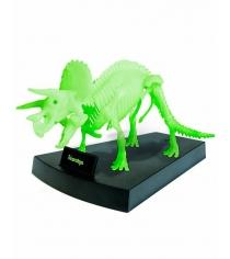Сборная модель geoworld скелет трицератопса светящийся CL140K