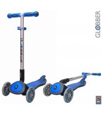 Самокат Globber elite sl my free fold up со светящимися колесами dark blue 445 1...