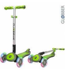 Самокат Globber elite sl my free fold up со светящимися колесами green 445 106 6...