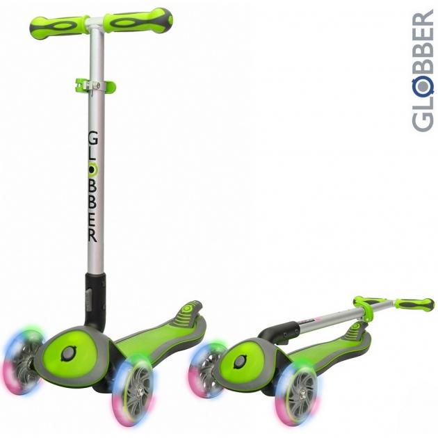 Самокат Globber elite sl my free fold up со светящимися колесами green 445 106 6299
