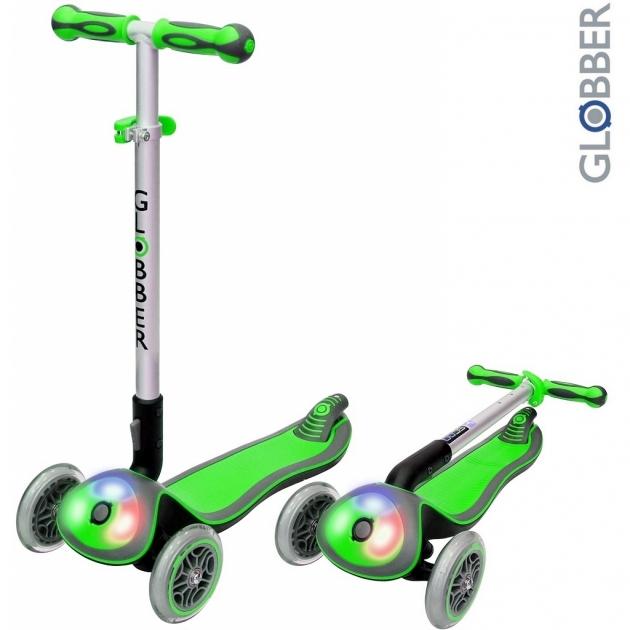 Самокат Globber elite f my free fold up со светящейся платформой green 448 106 6301