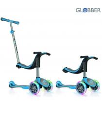 Самокат Globber evo 4 in 1 plus c подножками с 3 светящимися колесами blue 454 1...
