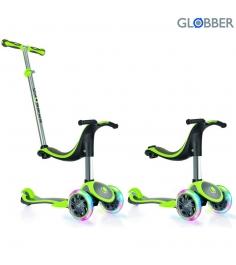 Самокат Globber evo 4 in 1 plus с 3 светящимися колесами green 454 136 6655...