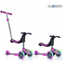 Самокат Globber evo 4 in 1 plus c подножками с 3 светящимися колесами pink 454 1...