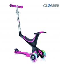 Самокат Globber evo 5 in 1 с 3 светящимися колесами pink 457 110 6679...