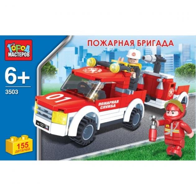 Конструктор спецтехника пожарная бригада 155 Город мастеров AA-3503-R