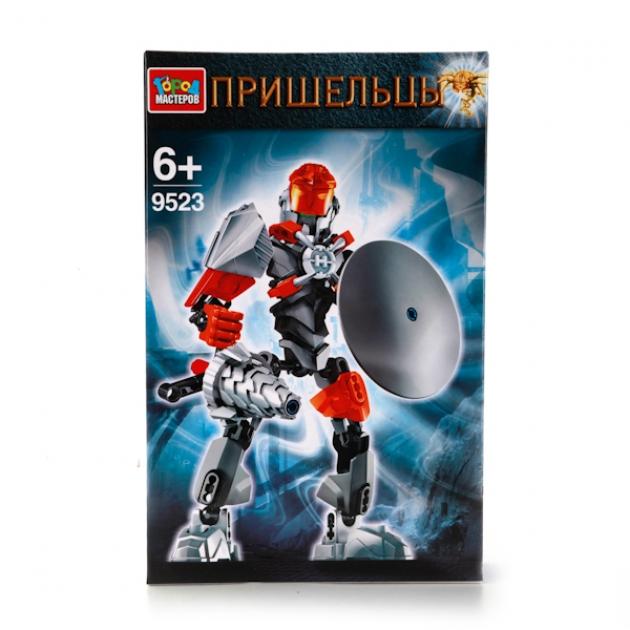 Пластиковый конструктор пришельцы Город мастеров LL-9523-R