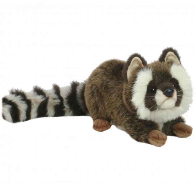 Мягкая игрушка енот лежащий 74 см Hansa 2312