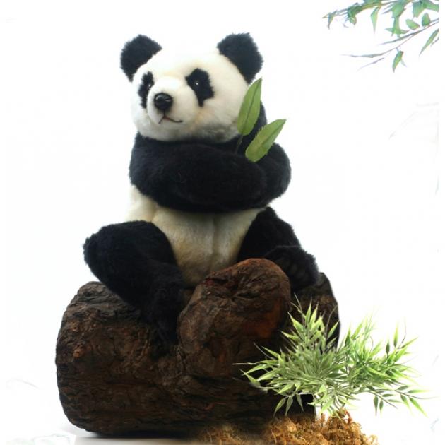 Мягкая игрушка сидящая панда 25 см Hansa 4184
