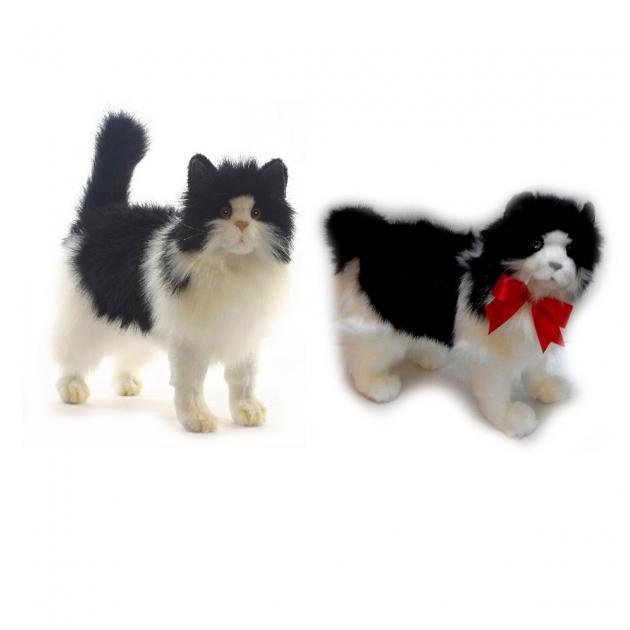 Мягкая игрушка кошка черно белая 40 см Hansa 4221