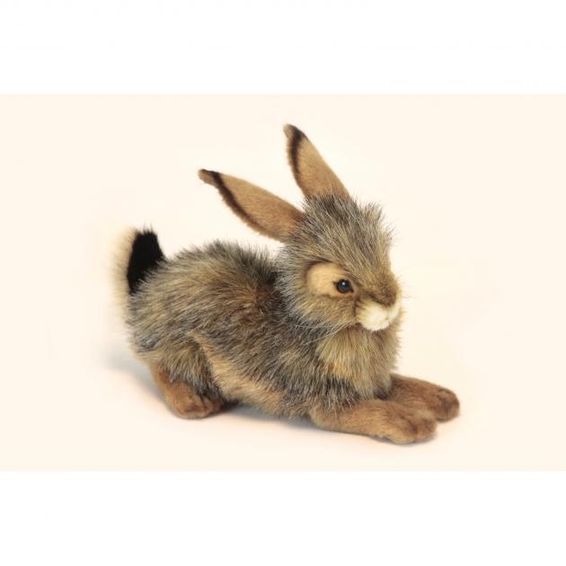 Мягкая игрушка черный кролик 25 см Hansa 6284