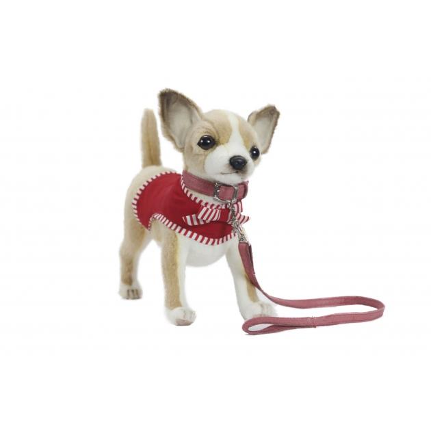 Мягкая игрушка чихуахуа в красном 27 см Hansa 6383