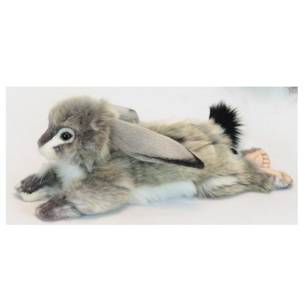 Мягкая игрушка заяц вислоухий серый 40 см Hansa 6522