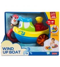 Заводная игрушка для ванны кораблик пингвин Happy Kid 4326...