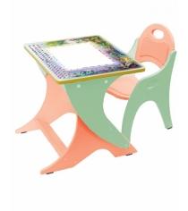 Стол со стульчиком Интехпроект День ночь эквалипт оранж