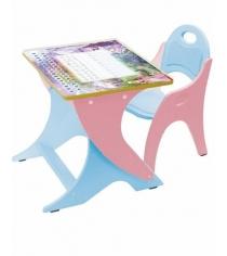 Стол со стульчиком Интехпроект Зима лето розовый голубой