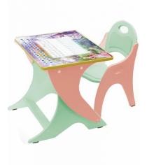 Стол со стульчиком Интехпроект Зима летосалатовый персик
