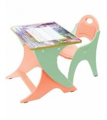 Стол со стульчиком Интехпроект Зима лето эвкалипт оранж