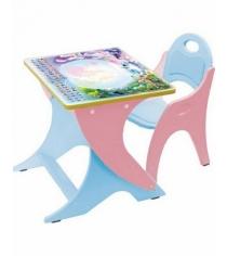 Стол со стульчиком Интехпроект Части света розовый голубой