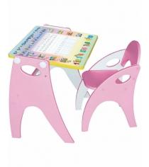 Парта мольберт Интехпроект Буквы Цифры розовый