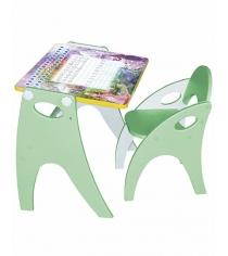 Стол со стульчиком Интехпроект Зима лето салатовый