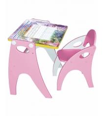 Стол со стульчиком Интехпроект Зима лето розовый