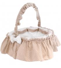 Плетеная корзина Italbaby Sweet Star круглая кремовая 630,0037-6