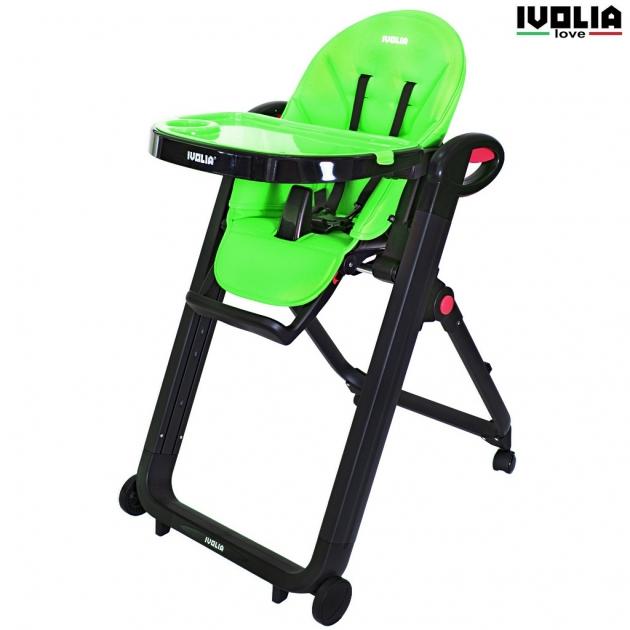 Стульчик для кормления Ivolia love 02 4 колеса green 6113