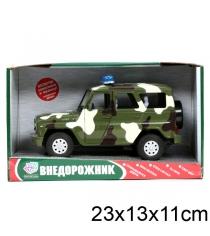 Инерционная машина военный уаз 1:24 Joy Toy A071-H11003