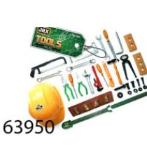 Игровой набор инструментов с каской профессионал Jrx 63950