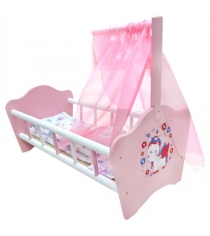 Кроватка для кукол Карапуз милый пони деревянная 52 см RB-P-C