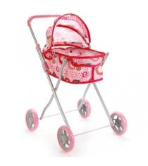 Коляска для кукол со съемной люлькой розовая Карапуз 63ca-c1