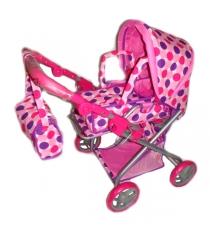 Прогулочная коляска для кукол горошек Карапуз 63hj-c2