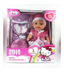 Интерактивная кукла hello kitty пупс 30 см Карапуз