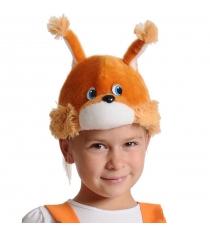 Карнавальная маска шапка бельчонок Карнаволофф